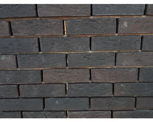 Metselsteen Zwart bruin genuanceerd dikformaat handvorm.