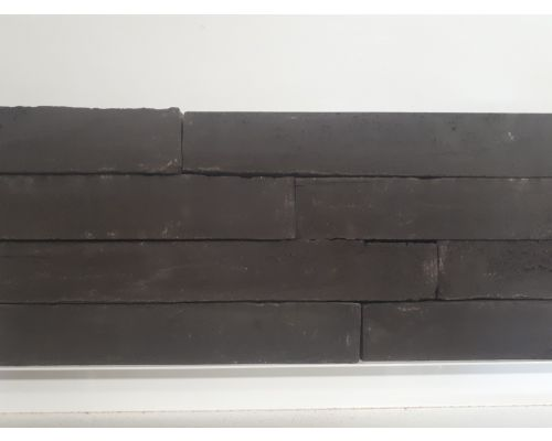 Steenstrip Geba 753 antraciet zwart wasserstrich langformaat.