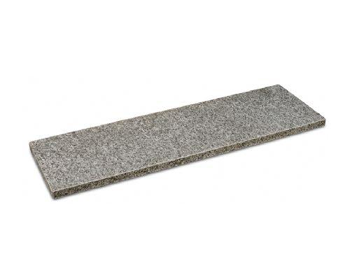 Basalt vijverrand gevlamd/geborsteld/facet 100x30x3cm.