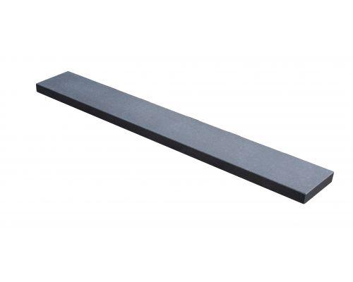 Basalt vijverrand gezoet/facet 100x15x3cm.