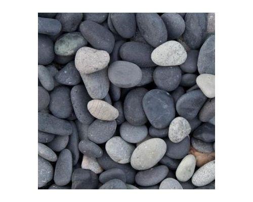 0,7 m3 Beach Pebbles zwart 8-16mm.