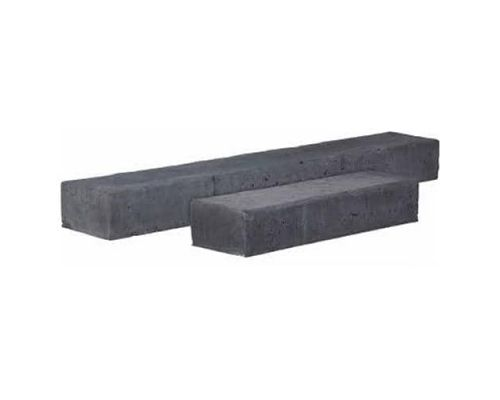 Betonbiels zwart 120x20x12cm.