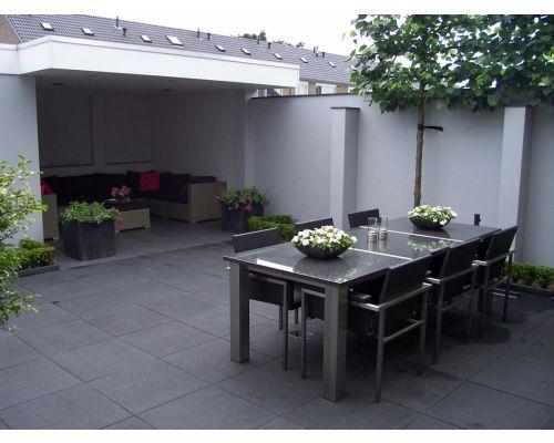 Terrastegel plus  zwart 60x60x4cm.