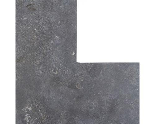 Chinees hardsteen hoekstuk 50/50x35cm gezoet facet.