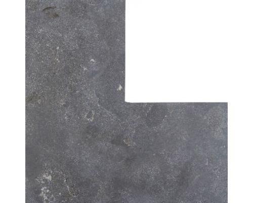 Chinees hardsteen hoekstuk 50/50x20cm gezoet/facet.