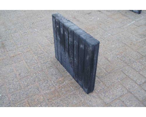 Palissadenbanden Vierkant 50x6x40cm Zwart