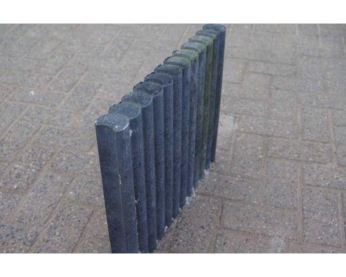 Palissadenbanden Rond 50x6x40cm Zwart