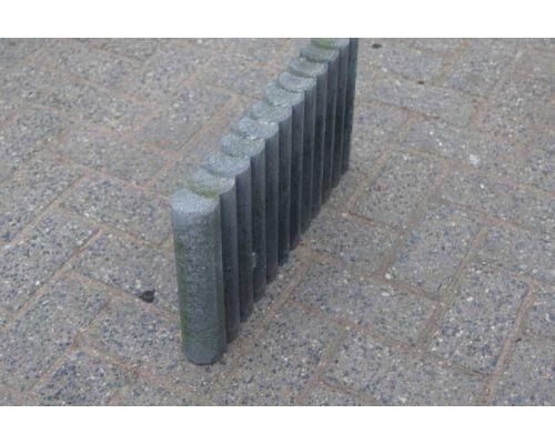 Palissadenbanden rond 50x6x25cm Zwart