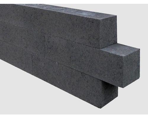 Linia palissade 15x15x60cm strak zwart
