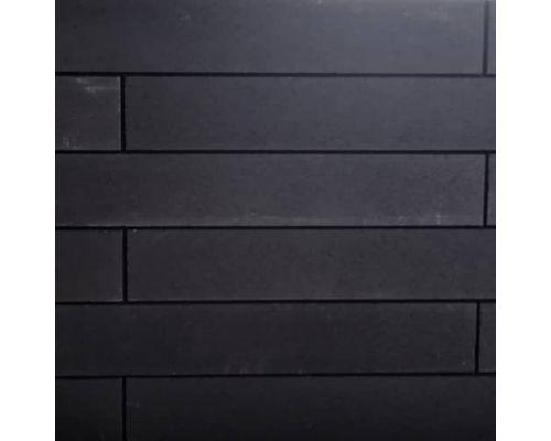 Liniapalissade zwart met facet 10x15x60cm.