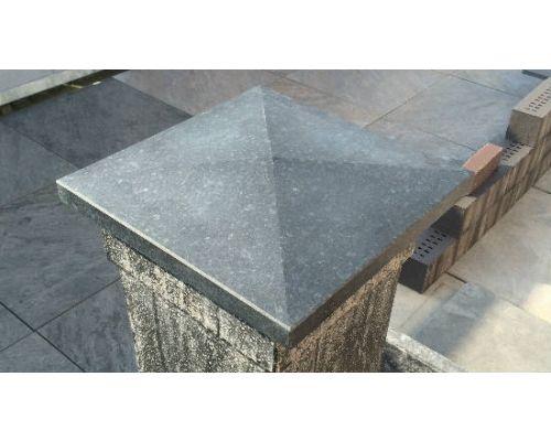 Kolomafdekker Basalt 37x37x6/3cm.