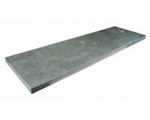 Chinees hardsteen vijverrand gezoet/facet 100x30x3cm.