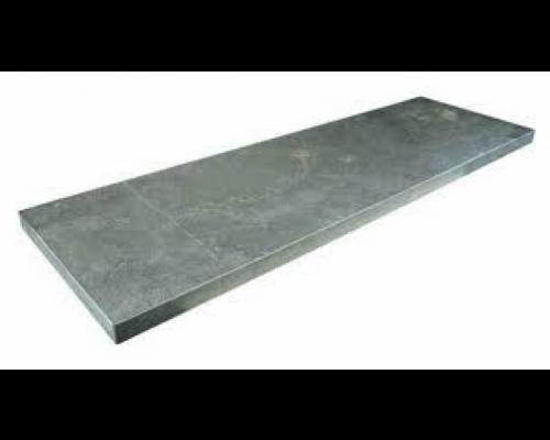 Chinees hardsteen vijverrand gezoet/facet 100x20x3cm.